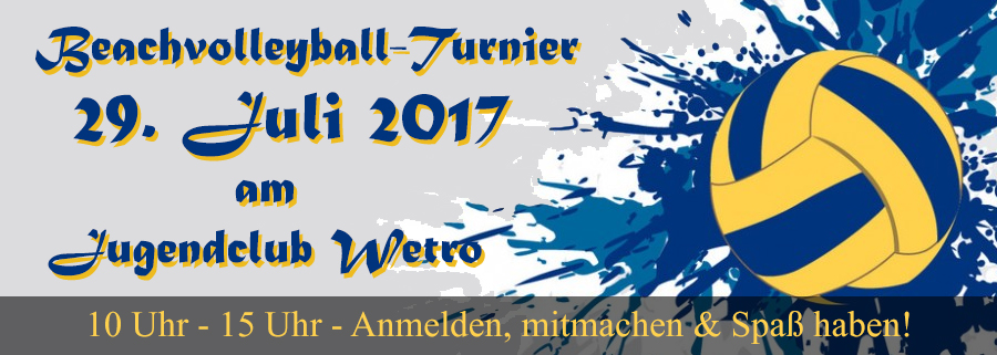 Beachvolleyball Turnier 2017 @ Volleyballfeld JCW e.V.